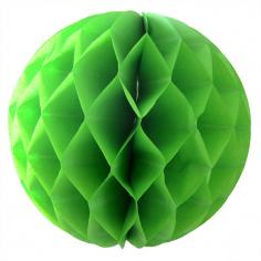 Бумажный шар-соты Зелёный