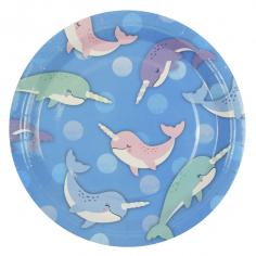 Тарелки бумажные ламинированные Морской Единорог 6шт