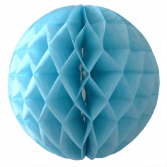 Бумажный шар-соты Голубой