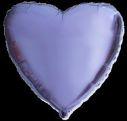 Шар Сердце, Сиреневый / Lilac (в упаковке)