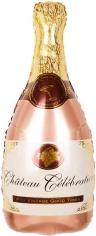 Шар Фигура Бутылка Шампанское вино, Розовое Золото (в упаковке)