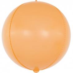 Шар Сфера 3D, Макарунс, Оранжевый (в упаковке)