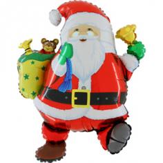 Шар Фигура, Забавный Дед Мороз (в упаковке)