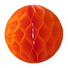 Бумажный шар-соты Оранжевый