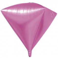 Шар 3D Алмаз, Розовый (в упаковке)