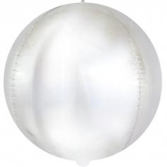 Шар Сфера 3D, Матовое серебро, Голография (в упаковке)