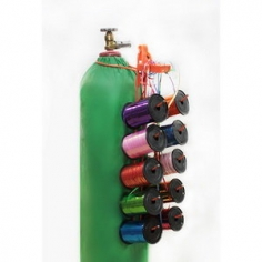 Накопитель для ленты для 10 бобин с креплениями на баллон и стену