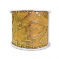 Лента армированная Органза Золотая