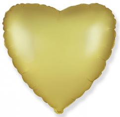 Шар Сердце, Золото Сатин / Gold Satin (в упаковке)