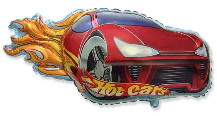 Шар фигура, Гоночная тачка, красная / Hot Car red (в упаковке)