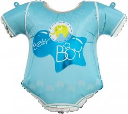 Шар Фигура, Боди для малыша мальчика, Голубой (в упаковке)