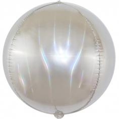 Шар Сфера 3D, Светлое серебро, Голография (в упаковке)