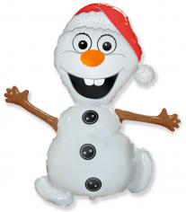 Шар фигура, Снеговик Олаф (Холодное сердце) / Snowman (в упаковке)