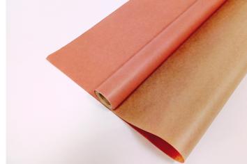 Крафт-бумага вержированная Розовая / рулон