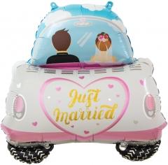 Шар Фигура, Молодожены, Свадебный автомобиль (в упаковке)