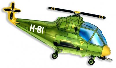 Шар фигура, Вертолёт (зелёный) / Helicopter (в упаковке)