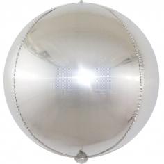 Шар Сфера 3D, Стерео Кристалл, Серебро, Голография (в упаковке)