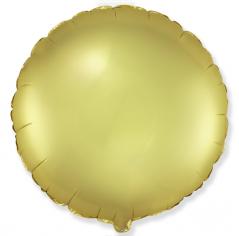 Шар Круг, Золото, Сатин / Gold Satin (в упаковке)