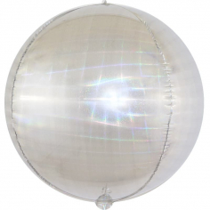 Шар Сфера 3D, Искрящаяся иллюзия, Серебро, Голография (в упаковке)